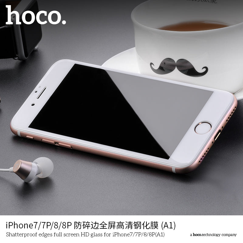 HOCO For Apple iPhone Tempered Glass Protective Film 0.25mm Ultra Thin Screen Protector 3D HD Anti Blue for iPhone7-8-7Plus-8Plus - Hot Phone Tech