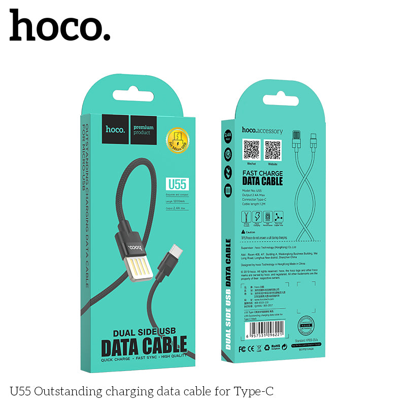 HOCO USB Type C Cable USB C QC Fast Charging Cable For Samsung Huawei LG Google HTC ALL Android Device - Hot Phone Tech