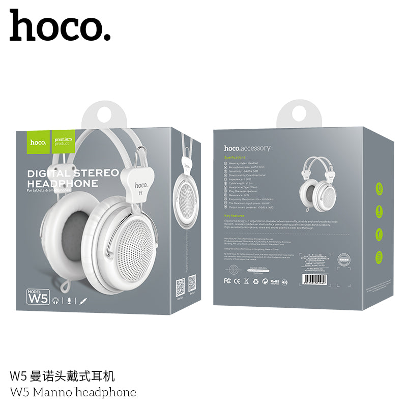 HOCO Wired Gaming Headphones for PC Phone Gamer Headset Big Earphones Microphone for iPhone Samsung Sony LG HUAWEI Google Monitor Headphones - Hot Phone Tech