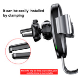 Baseus Car Mount Qi Wireless Charger For iPhone XS MAX XS XR  X 8 Plus Quick Charge Fast Wireless Charging Car Holder Stand For Samsung Google LG HTC HUAWEI - Hot Phone Tech