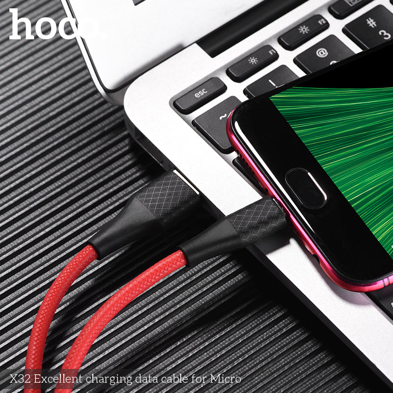 HOCO USB A to Micro USB Quick Charging Cable for Sony Google Samsung Huawei LG USB Fast Charger Cable Braided Data sync Wire - Hot Phone Tech