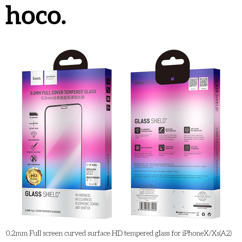 HOCO Protective glass Film for iPhone X  glass on iPhoneX  Screen Protector 0.2mm Ultra-thin Curved Tempered Glass - Hot Phone Tech