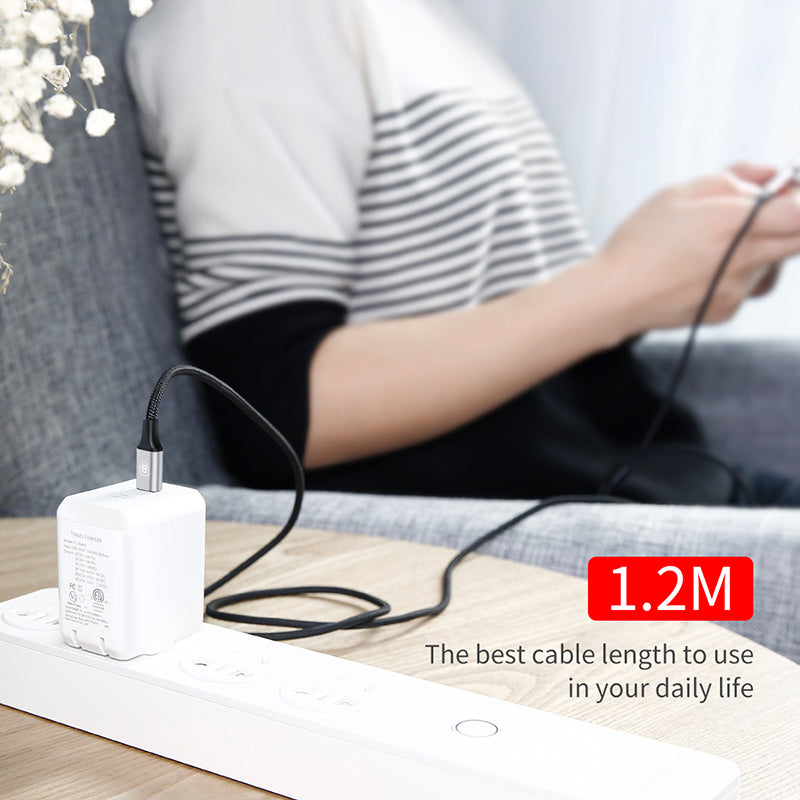 Baseus 3 in 1 TYPE C Charger Cable For iPhone XS MAX XS X 8 7 6 Samsung Sony LG HUAWEI Google Phone Charging Cable Micro USB Cable Type-C Cable - Hot Phone Tech