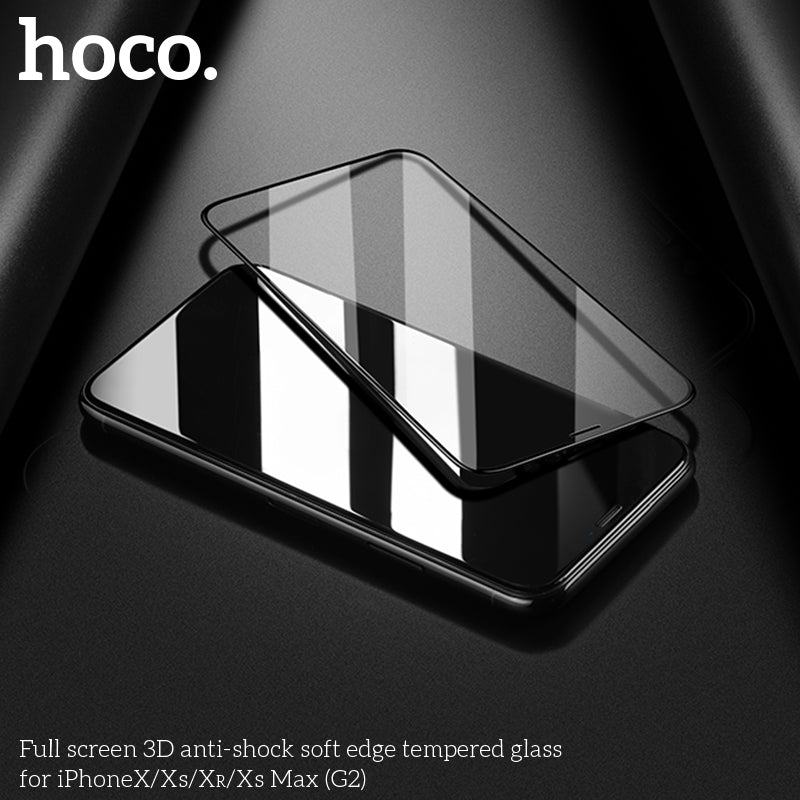 HOCO for iPhone XS Tempered Glass Film 0.33mm Ultra Thin Screen Protector 3D Full Cover Protective Glass For iPhone X XR XS MAX - Hot Phone Tech