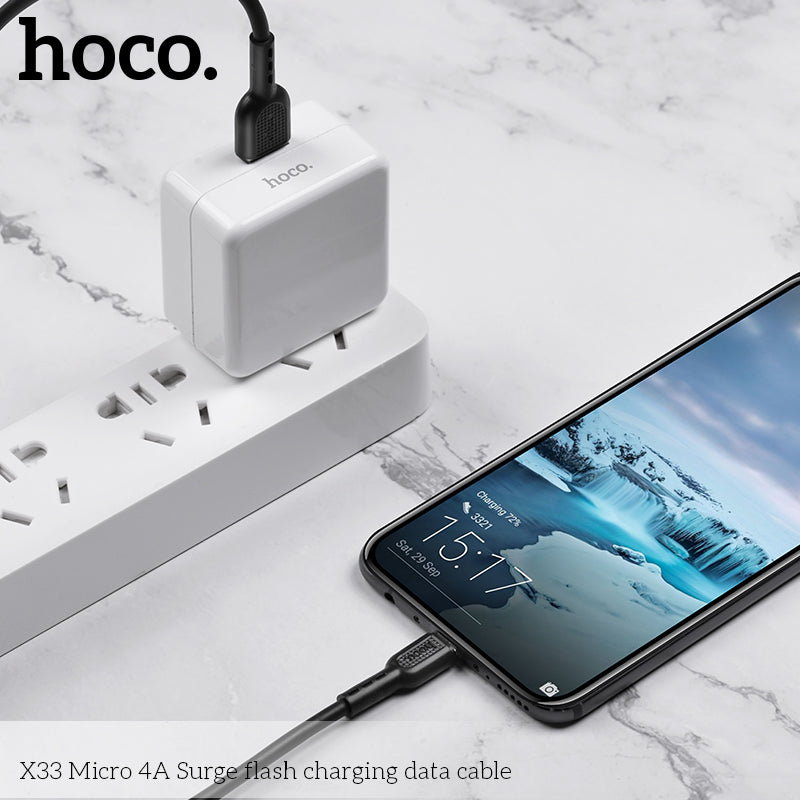 HOCO 4A Micro USB Cable 1M Fast Charging Data Charger Cable For Samsung Sony LG Google HTC HUAWEI Samsung ALL Android Device Mobile Phone USB Micro Cable - Hot Phone Tech