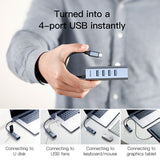 Baseus USB HUB Type C to 4 x USB 3.0 +PD Adapter Converter USB C Hub PD Adapter for MacBook PC Laptop - Hot Phone Tech