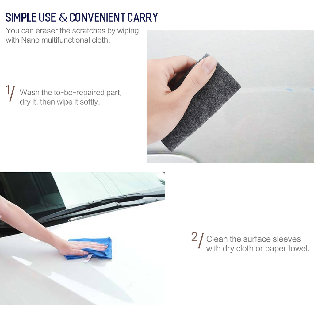 ROCK 14X14CM Scratch Repair Tool Cloth Nano Material Surface Rags For Automobile Light Paint Scratches Remover Scuffs For Car Black - Hot Phone Tech