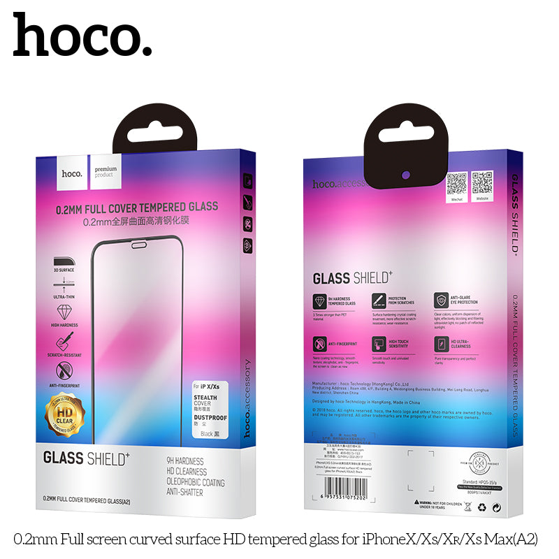 HOCO Protective glass Film for iPhone XR glass on iPhone XR Screen Protector 0.2mm Ultra-thin Curved Tempered Glass - Hot Phone Tech