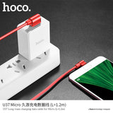 HOCO U37 Micro USB Cable for Samsung Huawei HTC LG Google ALL Android Device Fast Charging USB Data Cable USB Charging Cord Microusb Charger Cable - Hot Phone Tech