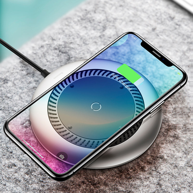 Baseus 10W Qi Wireless Charger For iPhone Xs Max X 8 Huawei LG Samsung Google Fan Radiating Fast Wireless Charging Pad - Hot Phone Tech