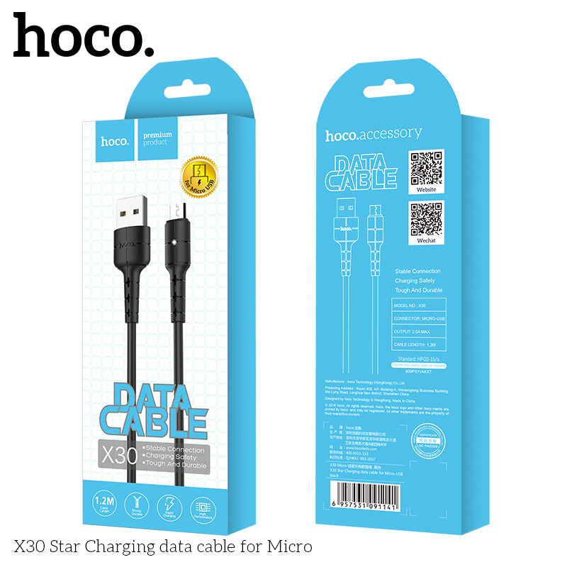 HOCO USB A to Micro USB Quick Charging Cable for Samsung Huawei LG Sony Google USB Fast Charger Cable Braided Data sync Wire - Hot Phone Tech