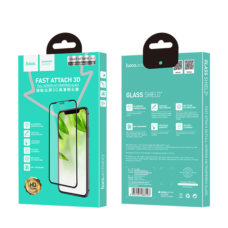 HOCO 3D Tempered Glass for iPhone XR XS Max  Full Cover Screen Protector Protective Glass for iPhone XR XS Max - Hot Phone Tech