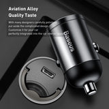 Baseus 30W Mini Car Fast Charger For iPhone 8 8P XS XR XS Max USB-A/Type-C Fast Charger 3.0 Car Charger For Samsung LG HUAWEI Google Sony - Hot Phone Tech
