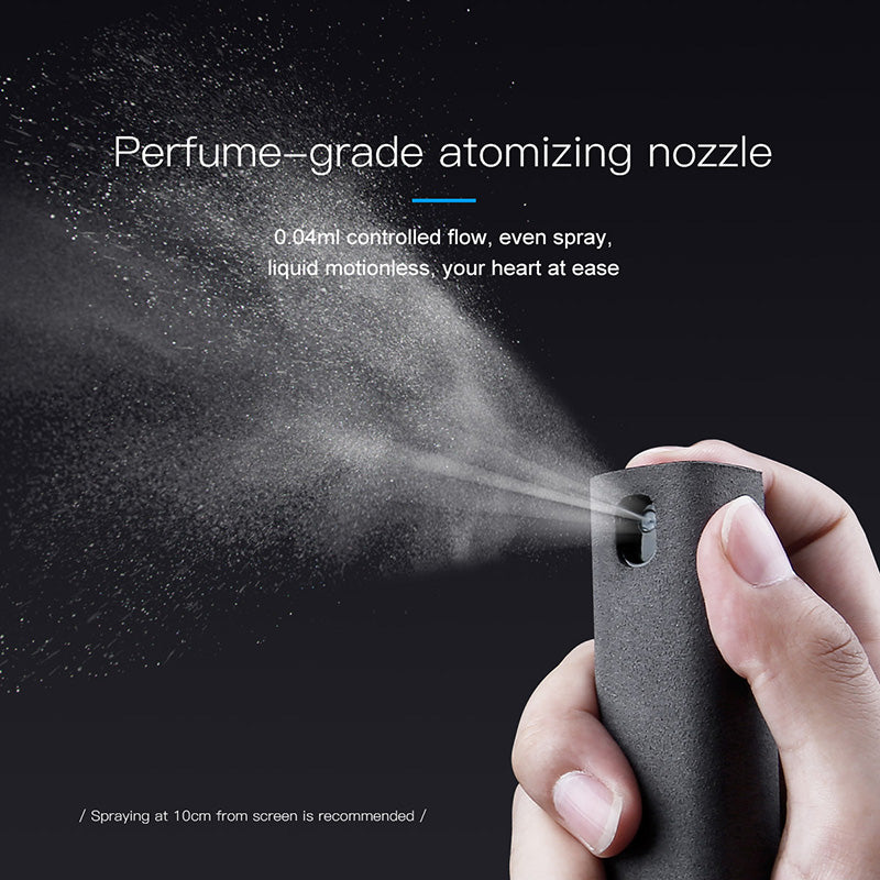 Baseus Portable Mobile Computer Tablet PC Scented Screen Cleaning Kit Cleaner Spray Square - Hot Phone Tech