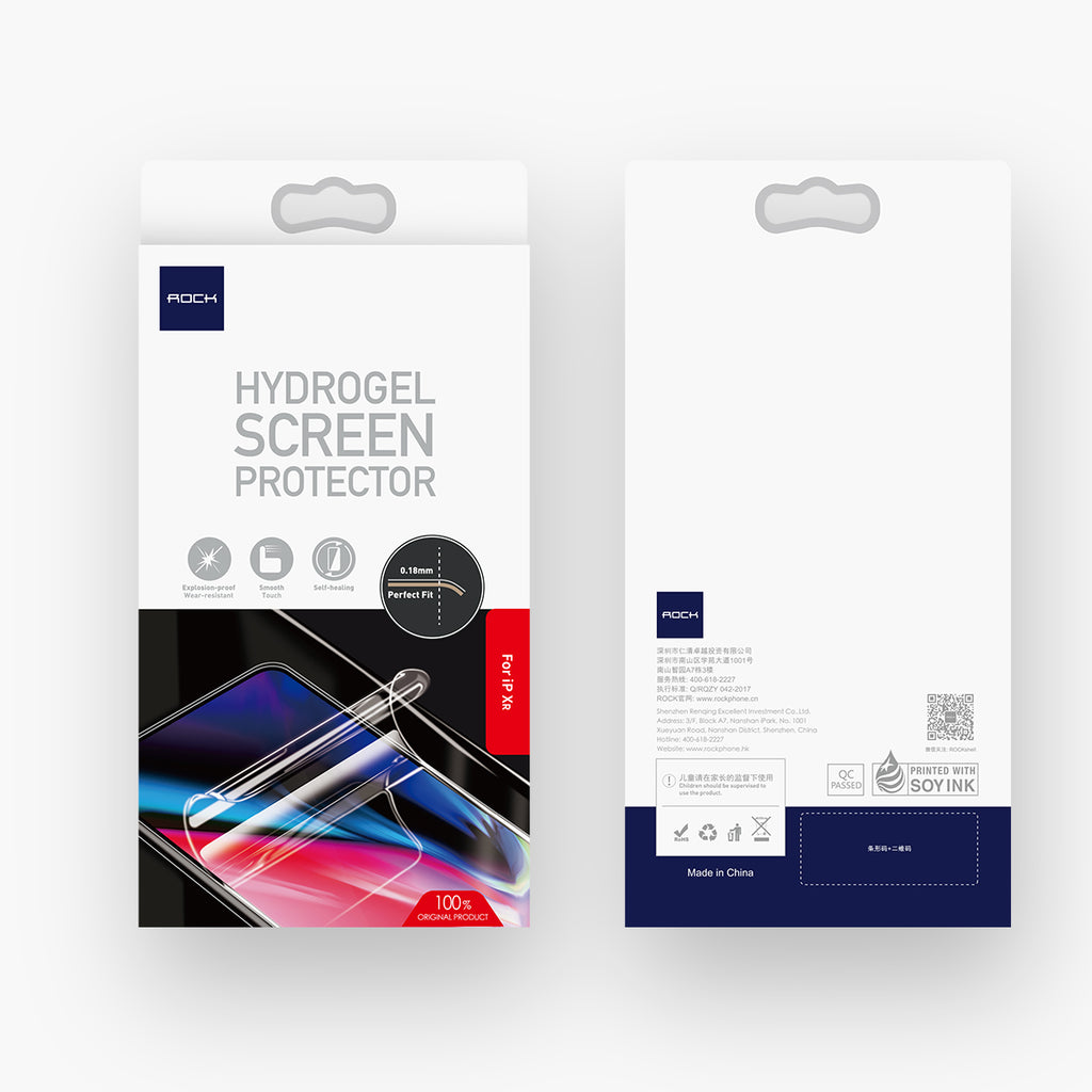Rock Soft Hydrogel Screen Protector for iPhone XR 0.18MM Full Cover Screen Protector Film Not Glass for iPhone XR - Hot Phone Tech