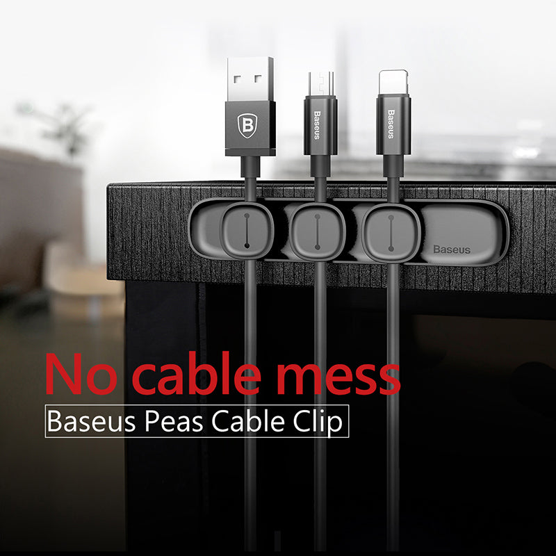 Baseus Magnetic protector Cable Clip Desktop Tidy Cable Organizer USB Charger Cable Holder Cable management kablo koruyucu - Hot Phone Tech