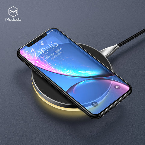 Mcdodo 10W Qi Wireless Light Charger For iPhone X XR XX Max 8 Fast Charging Wireless Pad For Samsung Google Sony LG HUAWEI - Hot Phone Tech