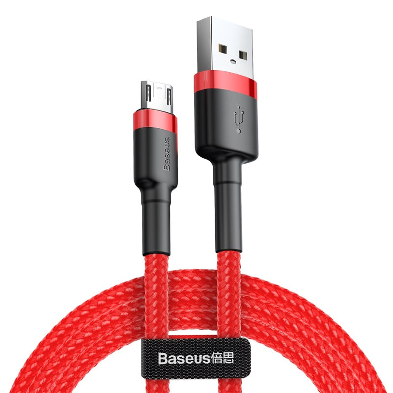 Baseus 2.4A Micro USB Cable Fast Charge USB Data Cable Nylon Sync Cord for Samsung LG Google HTC HUAERI ALL Android Device Microusb Cable - Hot Phone Tech