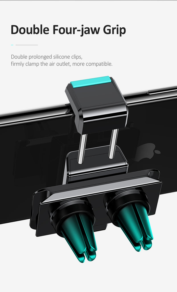USAMS Car Bracket Mobile Phone Holder Navigation Bracket Outlet Car Holder With General Support Dual-Card Buckle Belt Wire Clip For iPhone Samsung Sony LG Google HUAWEI - Hot Phone Tech