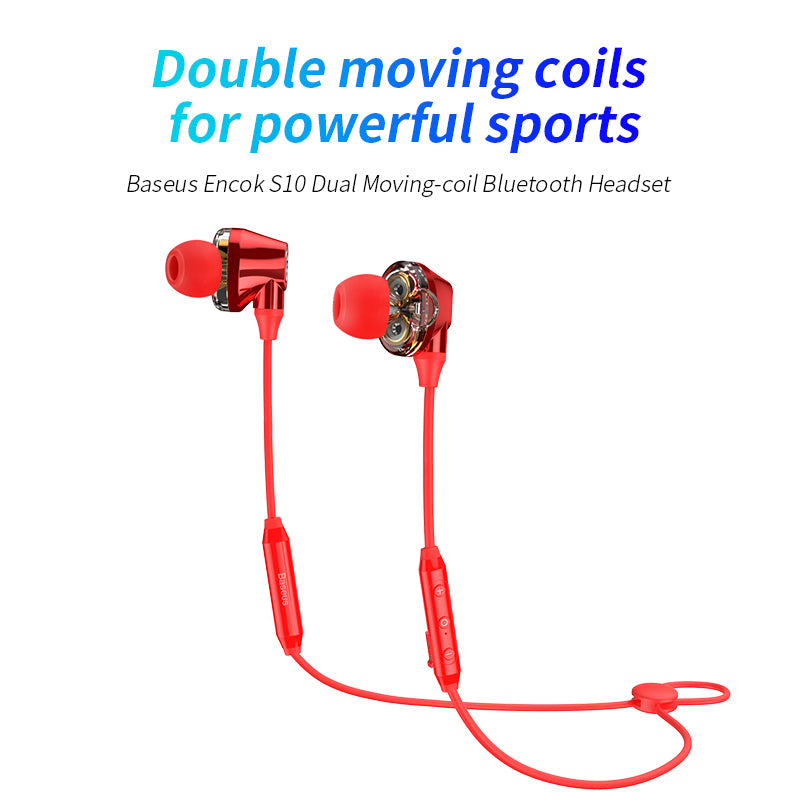 Baseus S10 Bluetooth Earphone IPX5 Waterproof Wireless Headphone Neckband Bluetooth Sport With Mic For iPhone Google LG HTC HUAWEI Samsung - Hot Phone Tech
