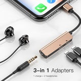 Baseus Audio Aux Adapter For iPhone Xs Max Xr X 8 7 Plus OTG Cable 3.5mm Jack Earphone Charging For Lightning Splitter Converter - Hot Phone Tech
