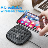Baseus Luxury Grid Pattern Wireless Charger Ultra Thin TPU QI Wireless Charger 10W Fast Wireless Charging Pad For iPhone Samsung Google HTC LG HUAWEI - Hot Phone Tech