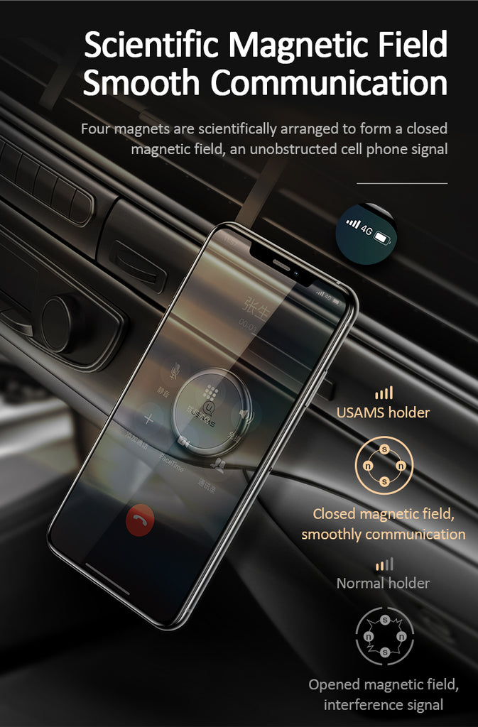 USAMS US-ZJ050 Universal In Car Magnetic Dashboard Mobile Cell Phone GPS PDA Mount Holder Stand Driving Magnet Dashboard For iPhone Samsung Sony Google LG HUAWEI - Hot Phone Tech