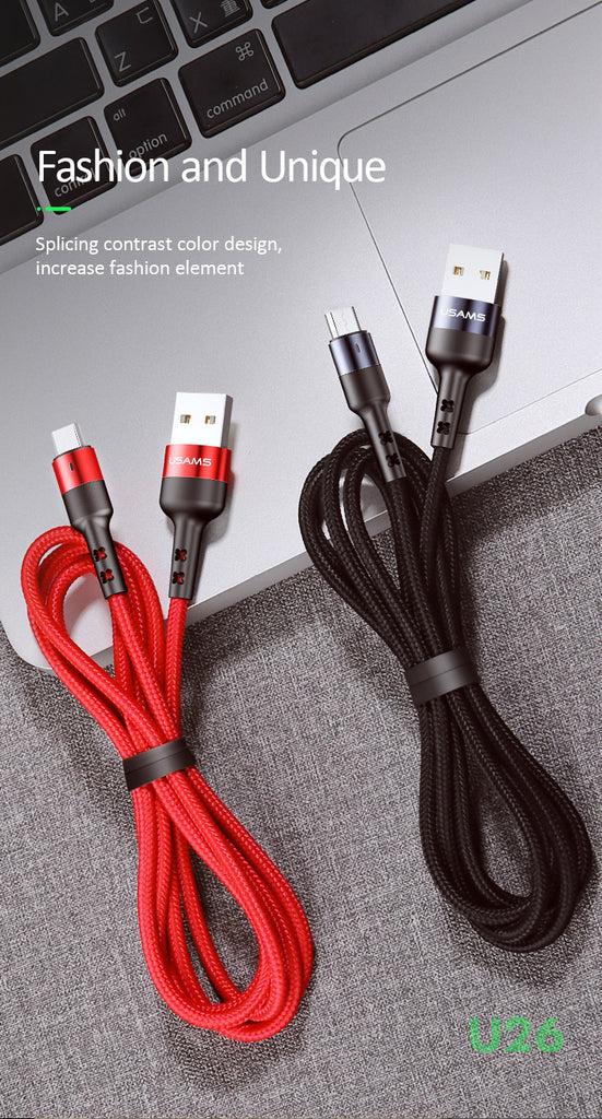 USAMS Micro USB Charger Charging Cable Data SYNC Cord For Samsung Sony LG HUAWEI Google Cable Android Mobile Phone Cable - Hot Phone Tech