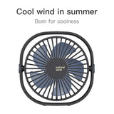 Baseus 360° Mini Cooling Fan Portable USB Desktop Fan 3 Speed Summer Cooling Fan for Office Car Home Travel Holiday Beach - Hot Phone Tech