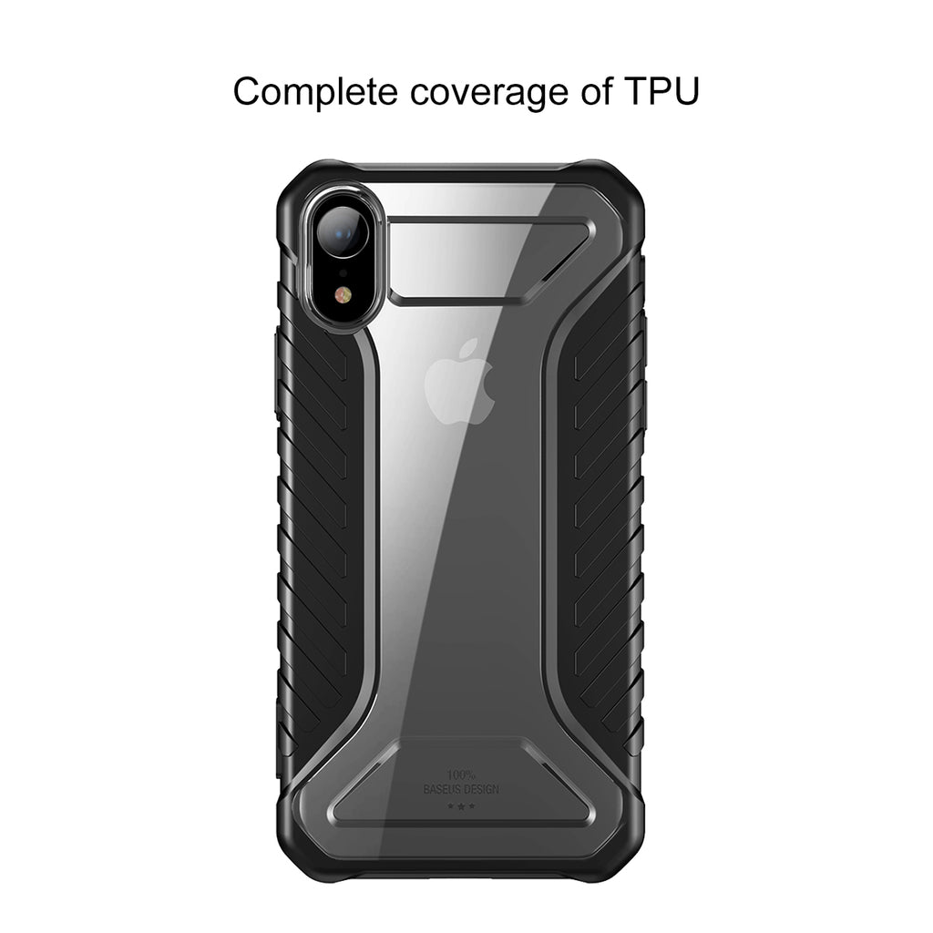 Baseus Tire Texture Case For iPhone XS MAX XR XS/X Rugged Armor Soft Silicone Protective Cover - Hot Phone Tech