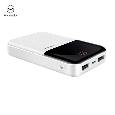 MCDODO Battery Display Power Bank Shell Dual USB Output Mobile Power Case Module DIY Kit External Battery Charger Box Housing For iPhone Samsung Sony LG HUAWEI Google - Hot Phone Tech