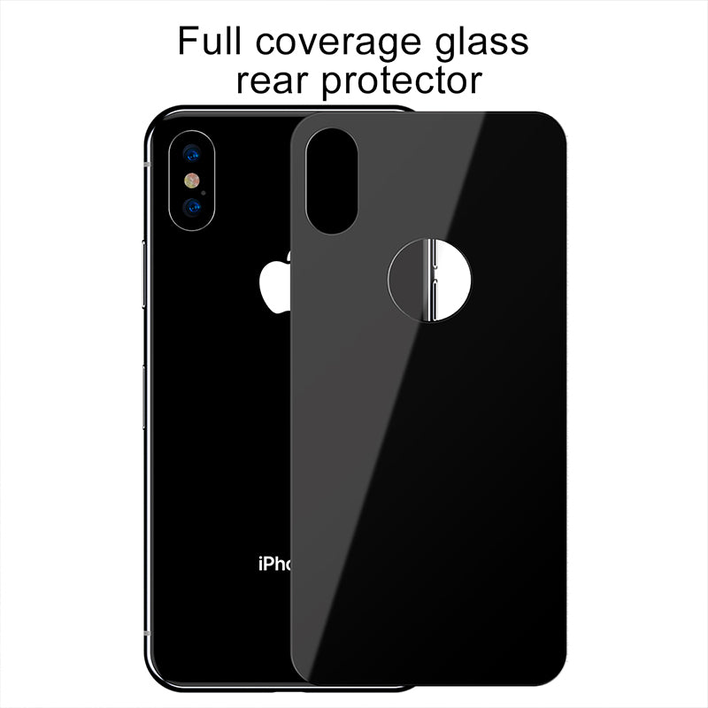 Baseus Full Coverage Tempered Glass Rear Protector For iPhone X XS XS MAX XR - Hot Phone Tech