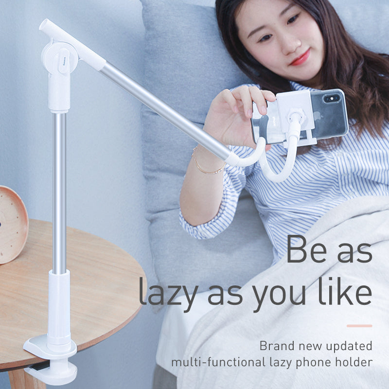 Baseus 360 Rotating Flexible Long Arm Lazy Phone Holder Adjustable Desktop Bed Tablet Clip For iPhone Samsung LG HTC Google HUAWEI Mobile Phone Holder - Hot Phone Tech