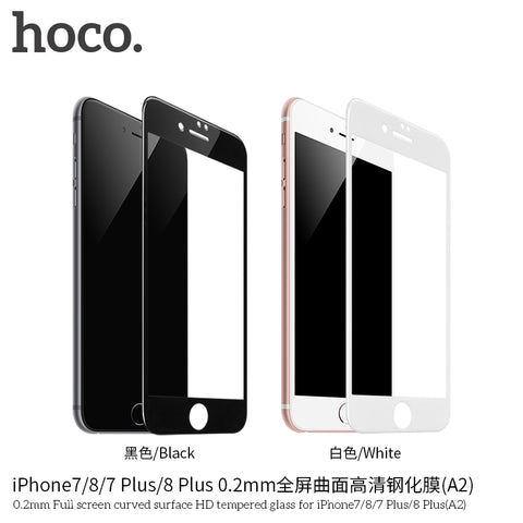 HOCO Protective Glass Film for iPhone 7 plus/ 8 plus glass on iPhone 7 8 Screen Protector 0.2mm Ultra-thin Curved Tempered Glass - Hot Phone Tech