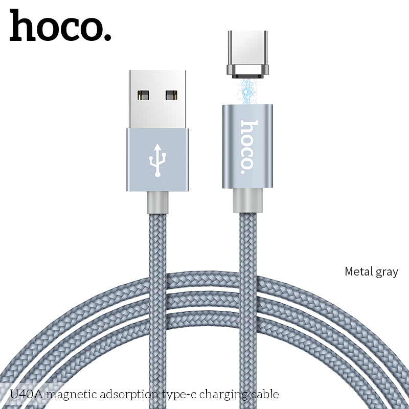 HOCO Magnetic Type C Cable Fast Charger USB Type-C USB-C Charger Data Magnet Cable For Samsung Sony Google Huawei LG Mobile Phone Cables 1m - Hot Phone Tech