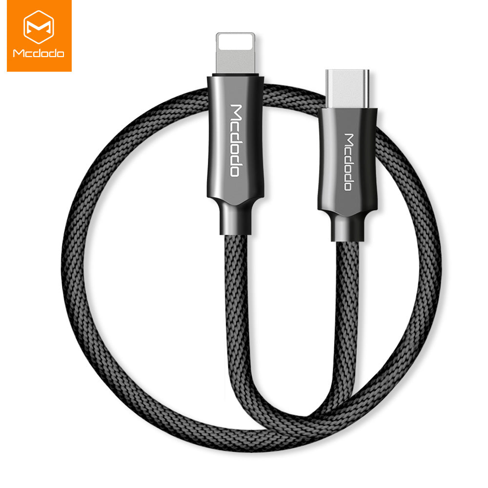 Mcdodo Knight series USB-C Type-C to Lightning PD Fast Charging Charger Cable Cord iPhone XS MAX/X/8 - Hot Phone Tech