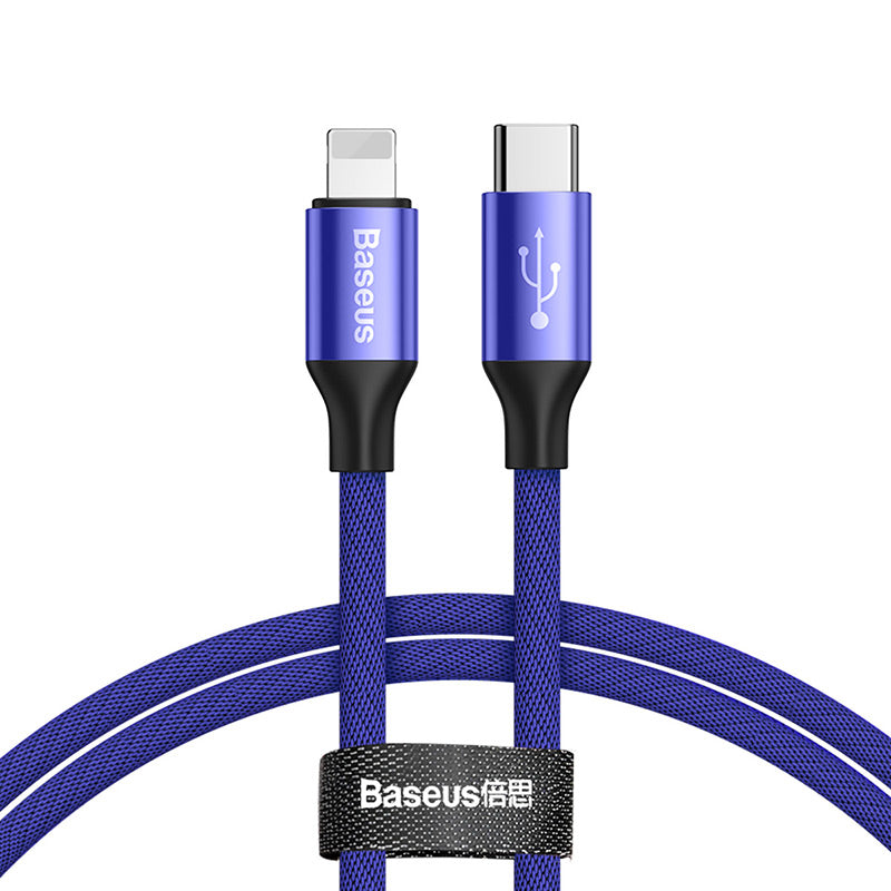 Baseus USB Cable USB Type C to Lightning Fast Charge Cable 2A Braided Cable Data Cord For iPhone XS MAX XS XR X 8 7 6s Plus - Hot Phone Tech