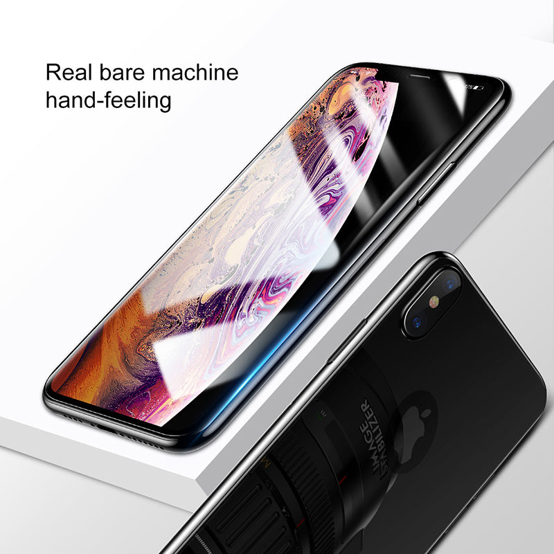 Baseus Front Back Glass Screen Protector For iPhone XS MAX Tempered Glass  Protective Glass Rear Film Cover - Hot Phone Tech