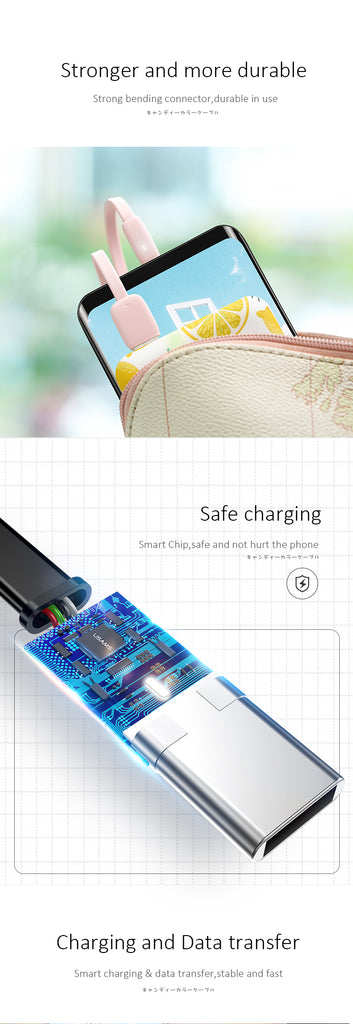 USAMS Type C USB C Cable Fast Charging Data SYNC Charger Cord For Samsung Google Sony LG HUAWEI - Hot Phone Tech