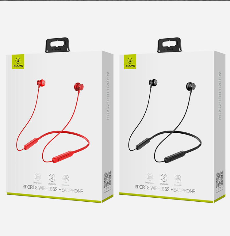USAMS Sport Wireless Earphone Stereo Bluetooth Wireless Sports Earphones Waterproof Headset with Microphone for iPhone Samsung Sony LG HUAWEI Google - Hot Phone Tech