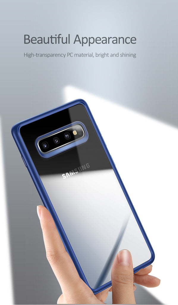 USAMS Slim Protect Case For Samsung S10 S10 Plus TPU Transparent Back Cover Full Protection for Galaxy S10 S10 Plus Case - Hot Phone Tech