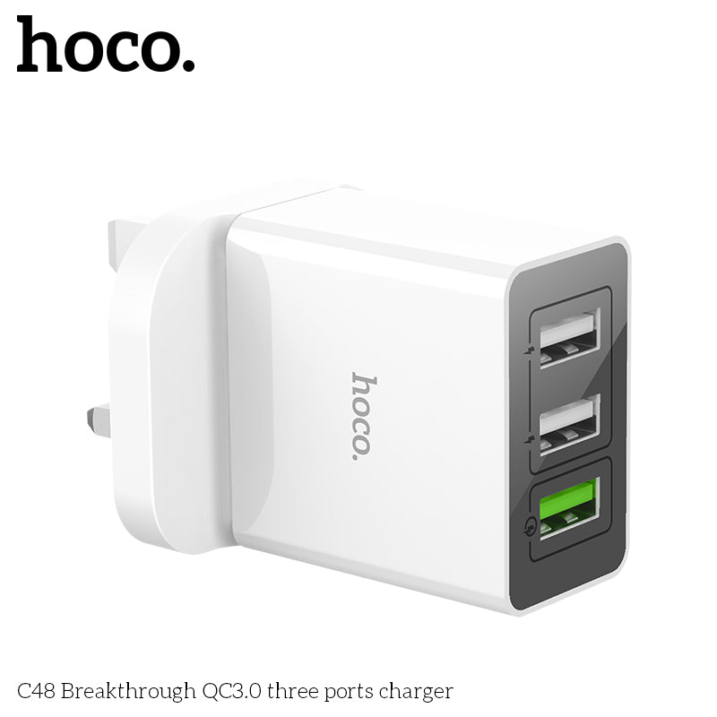 HOCO Quick Charge 3.0 USB Charger QC3.0  Fast Charging Multi Plug Mobile Phone Charger for iPhone Samsung Google LG HUAWEI Sony - Hot Phone Tech
