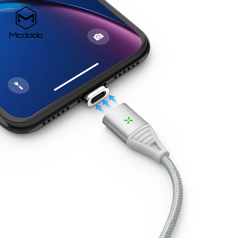 Mcdodo Magnetic Attraction Fast Charging USB Data Cable for iPhone X XR XS Max 8 7 6 Plus For Lightning Mobile Phone Cord - Hot Phone Tech