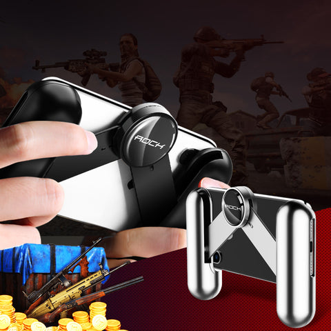 ROCK Portable Mobile Phone Handheld Grip Game Controller Gamepad Joystick Extended for PUBG Rules of Survival Gaming Pad Stand - Hot Phone Tech