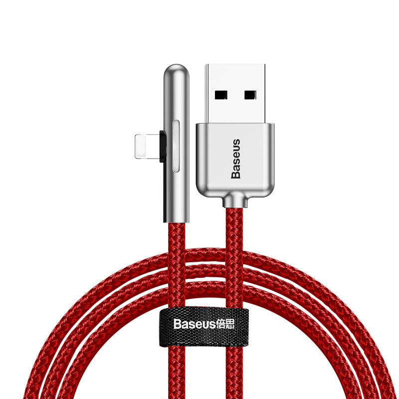 BASEUS 2M LED USB Cable For Lightning iPhone X XR XS MAX X 8 7 6 Cable Game USB Cord Fast Charging Cable Plus Light - Hot Phone Tech
