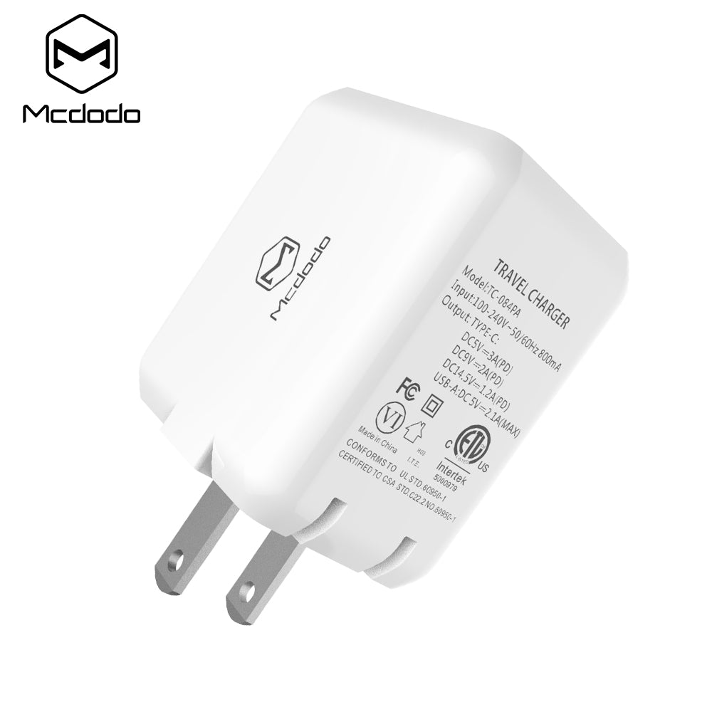 Mcdodo PD Quick Charge 4.0 3.0 USB Wall Charger For iPhone Samsung LG HTC HUAWEI All Smartphone  SCP QC4.0 QC3.0 QC C PD Fast Wall Mobile Phone Charger - Hot Phone Tech