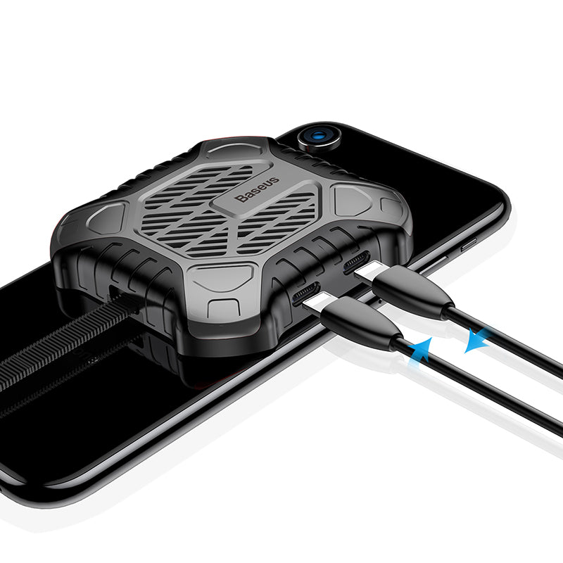 Baseus Newest Creative Mini Mobile Phone Cooler For iPhone X Xs Xs Max XR 7 8 Plus Game Cases with Audio Charging Cable Adapter - Hot Phone Tech