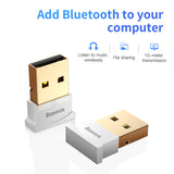 Baseus USB Bluetooth Adapter Dongle For Computer PC PS4 Mouse Aux Audio Bluetooth 4.0 4.2 5.0 Speaker Music Receiver Transmitter - Hot Phone Tech