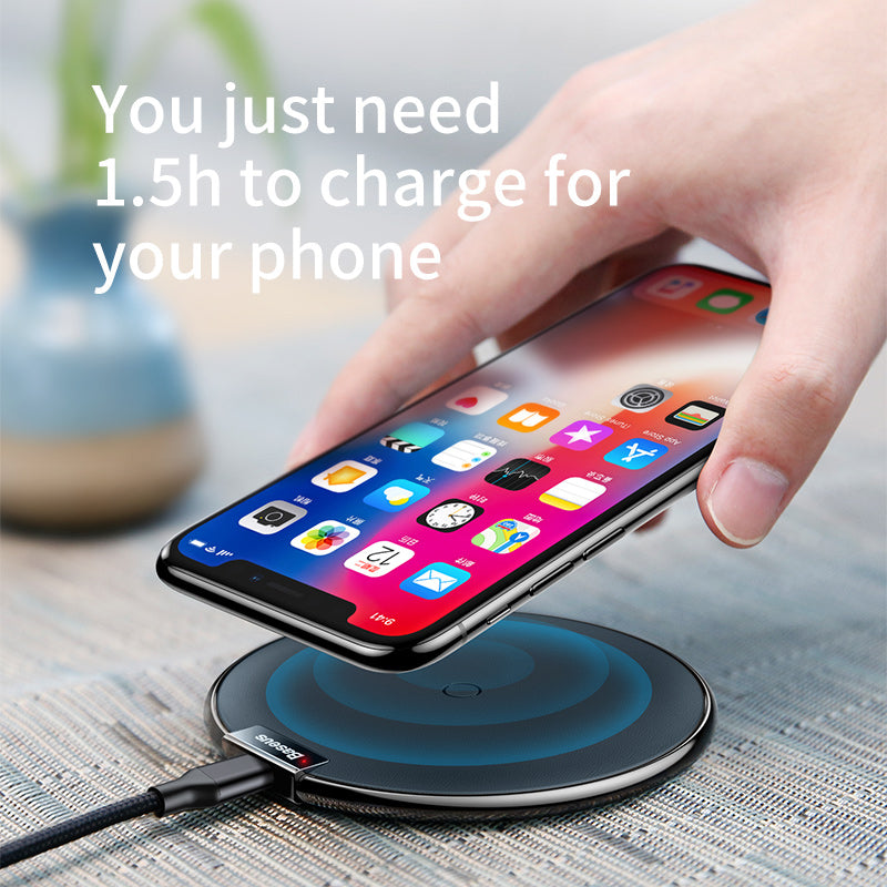 Baseus Qi Wireless Charger for iPhone X Xs MAX XR 8 plus for Samsung S9 S8 Plus Note 9 8 LG Google HUAWEI  Wireless Charging USB Phone Charger Pad - Hot Phone Tech
