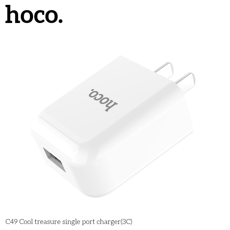 HOCO Universal USB Charger Adapter With Charging Cable Wall Travel Charger US Plugs Portable for iPhone Samsung Sony Google HUAWEI LG - Hot Phone Tech